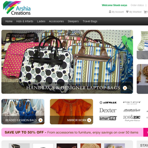 Arshia Creations online shopping website