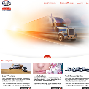 Web Design for Khushi Group of Companies in Dubai, UAE